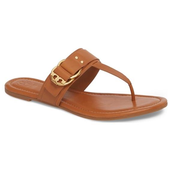 6ec62f8441f Tory Burch Marsden Flat Thong Sandal in Cognac 6.5.  M 5b6e0b3a129955753ef33af7